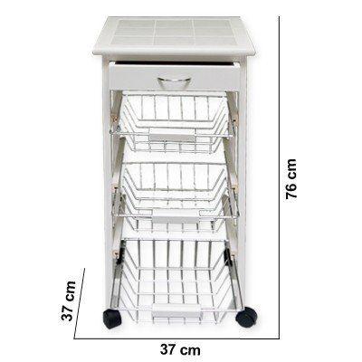 Küchenwagen Küchentrolley Allzweckwagen Küchenregal Küchenrschrank ...   {Küchenwagen metall 86}