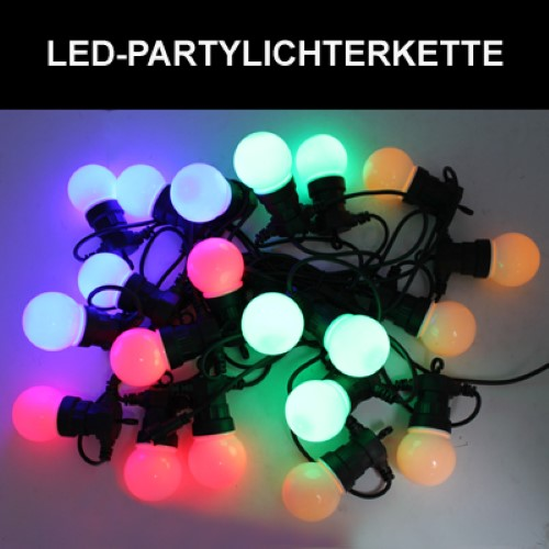 led partylichterkette 12 5 m 20 lampen innen aussen lichterkette lampen bunt ebay. Black Bedroom Furniture Sets. Home Design Ideas