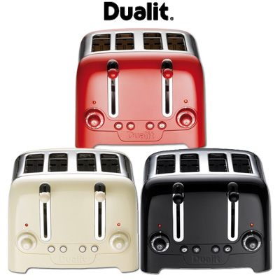 dualit 4 scheiben toaster lite edelstahl schwarz rot creme toastautomat ebay. Black Bedroom Furniture Sets. Home Design Ideas