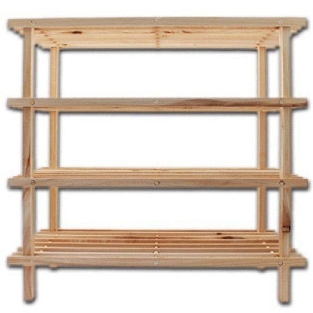 schuhregal 4 b den holz 12 paar schuhe st nder schuhst nder schuhablage f cher ebay. Black Bedroom Furniture Sets. Home Design Ideas