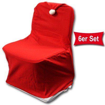 6er set weihnachts stuhlhusse f r ganzen stuhl. Black Bedroom Furniture Sets. Home Design Ideas