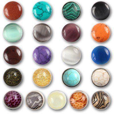 chunks druckknopf bead buttons f r chunks leder armband. Black Bedroom Furniture Sets. Home Design Ideas