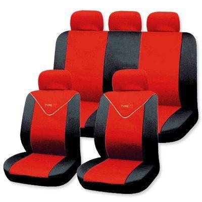 auto sitzbezug schonbezug universal sitzbez ge schonbez ge 11tlg komplettset rot ebay. Black Bedroom Furniture Sets. Home Design Ideas
