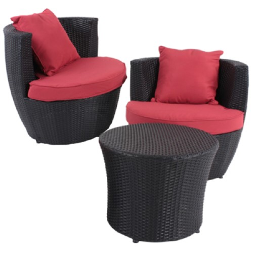 garden pleasure club set linz lounge sitzgruppe tisch rund 2 sessel gartenm bel ebay. Black Bedroom Furniture Sets. Home Design Ideas