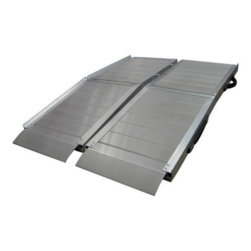 rollstuhlrampe aluminium klappbar 272kg mobile auffahrampe 183x79cm falten 1 ebay. Black Bedroom Furniture Sets. Home Design Ideas