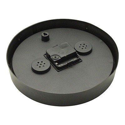 designer wanduhr mit thermometer hygrometer uhr k chenuhr modern schwarz neu ebay. Black Bedroom Furniture Sets. Home Design Ideas