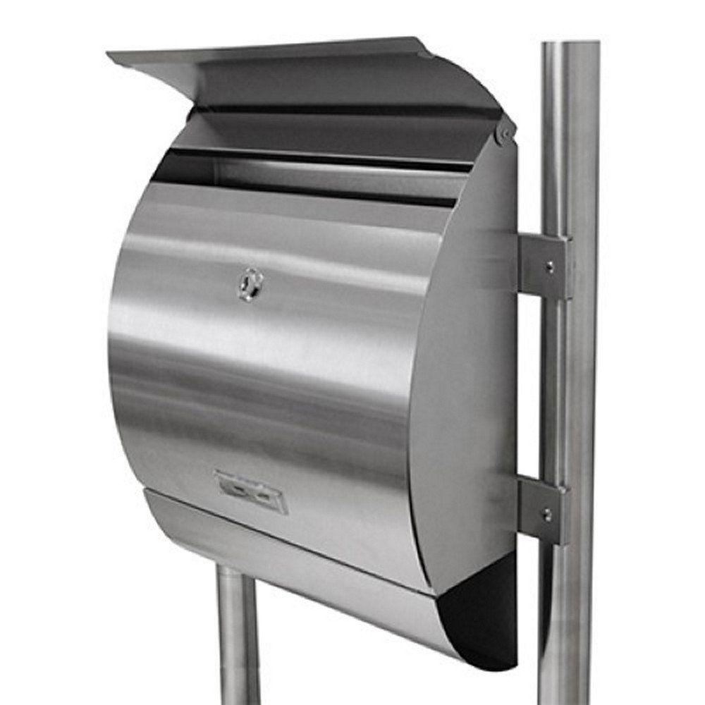 grafner edelstahl design standbriefkasten postkasten briefkasten zeitungsfach ebay. Black Bedroom Furniture Sets. Home Design Ideas