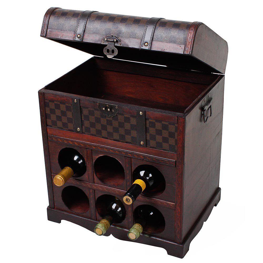 weinregal 6 flaschen kolonialstil whisky schrank aufbewahrung sekt staender n936 ebay. Black Bedroom Furniture Sets. Home Design Ideas