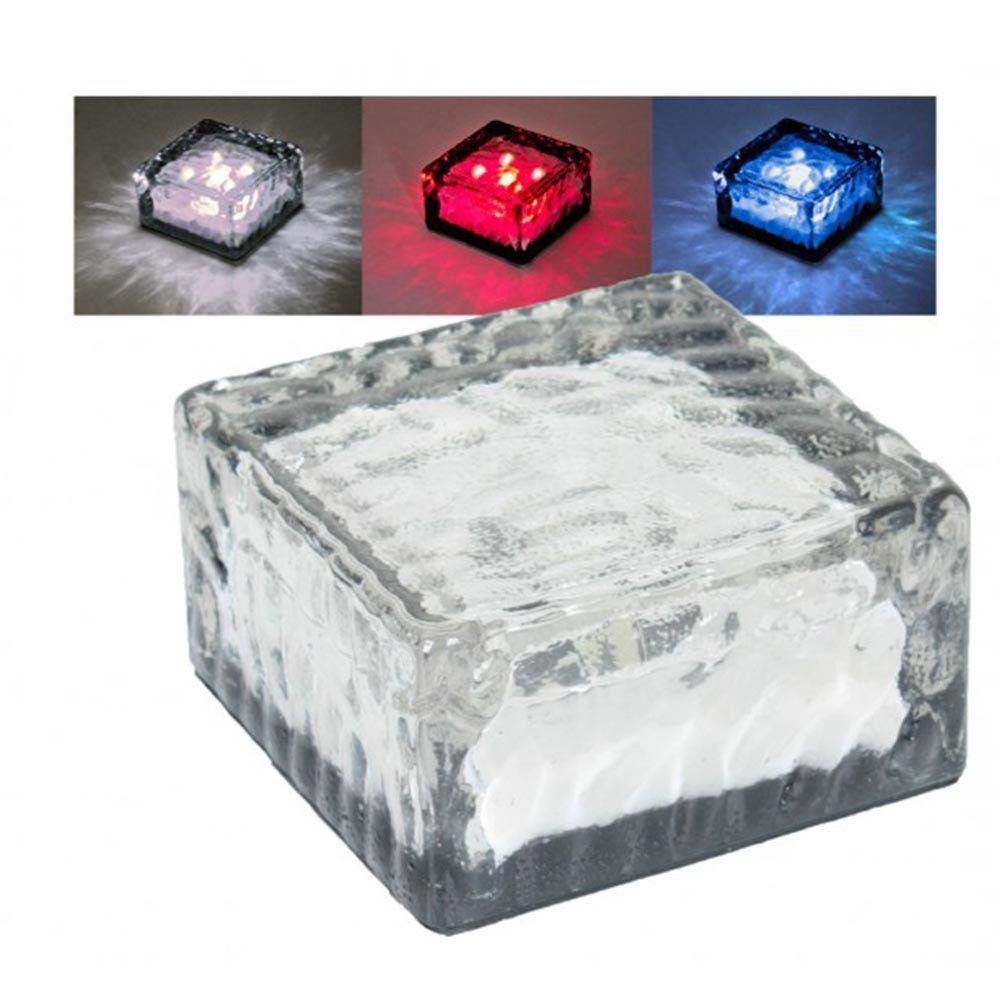 3x solar led glas w rfel bodenleuchten solarlampen. Black Bedroom Furniture Sets. Home Design Ideas