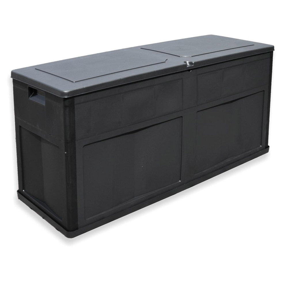 auflagenbox sitztruhe kissenbox 320l gartentruhe universalbox auflagentruhe bank ebay. Black Bedroom Furniture Sets. Home Design Ideas
