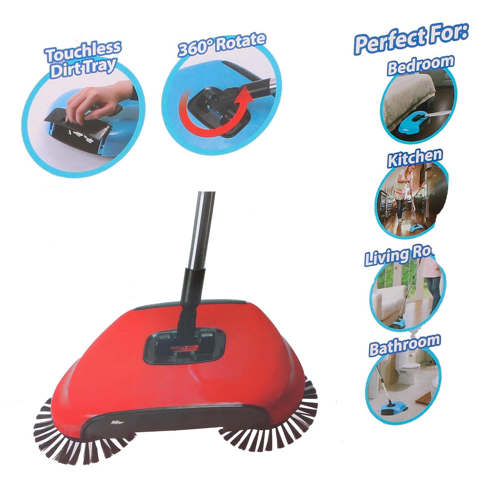 Bodenkehrer-Besen-m-Kehrerschaufel-Kehrmaschine-Kehrbesen-Bodenpflege-ohne-Akku