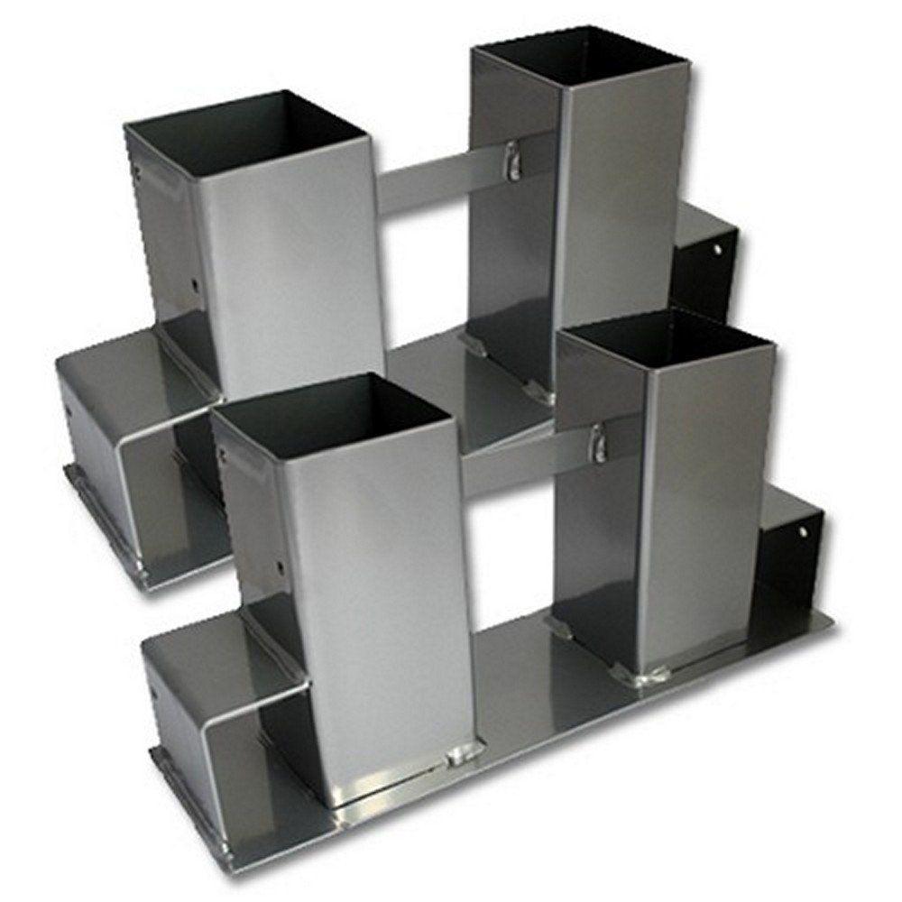 stapelhilfe 2 st brennholz kaminholz holzstapelhalter kaminholzhalter neu ebay. Black Bedroom Furniture Sets. Home Design Ideas
