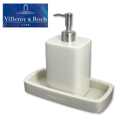 Badezimmerset Villeroy U0026 Boch 2 Tlg Seifenspender Schale Set Aus Keramik  NEU EBay