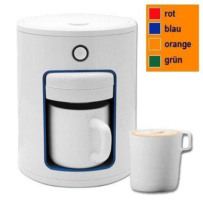 kaffeepadmaschine inkl becher weiss kaffeemaschine padmaschine kaffee pad ebay. Black Bedroom Furniture Sets. Home Design Ideas