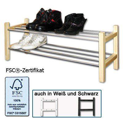 schuhregal holz 100x37x30cm st nder ablage stecksystem schuhst nder schuhablage. Black Bedroom Furniture Sets. Home Design Ideas