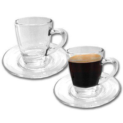 2er set pack espressotassen glas rastal glastassen. Black Bedroom Furniture Sets. Home Design Ideas