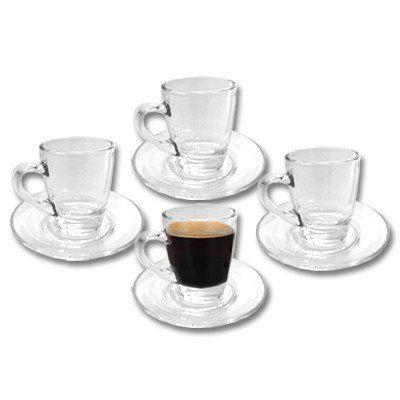 4er set pack espressotassen glas rastal glastassen. Black Bedroom Furniture Sets. Home Design Ideas