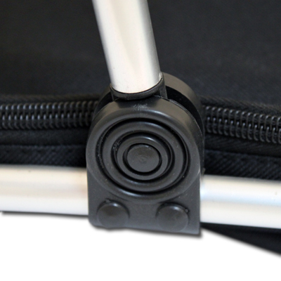 klappbarer einkaufskorb aluminiumrahmen polyesterbezug korb picknickkorb. Black Bedroom Furniture Sets. Home Design Ideas