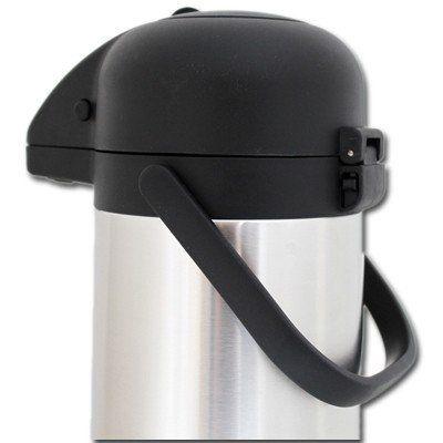 isolierkanne 3 0 liter edelstahl thermoskanne pumpkanne kanne mit pumpe 3l ebay. Black Bedroom Furniture Sets. Home Design Ideas