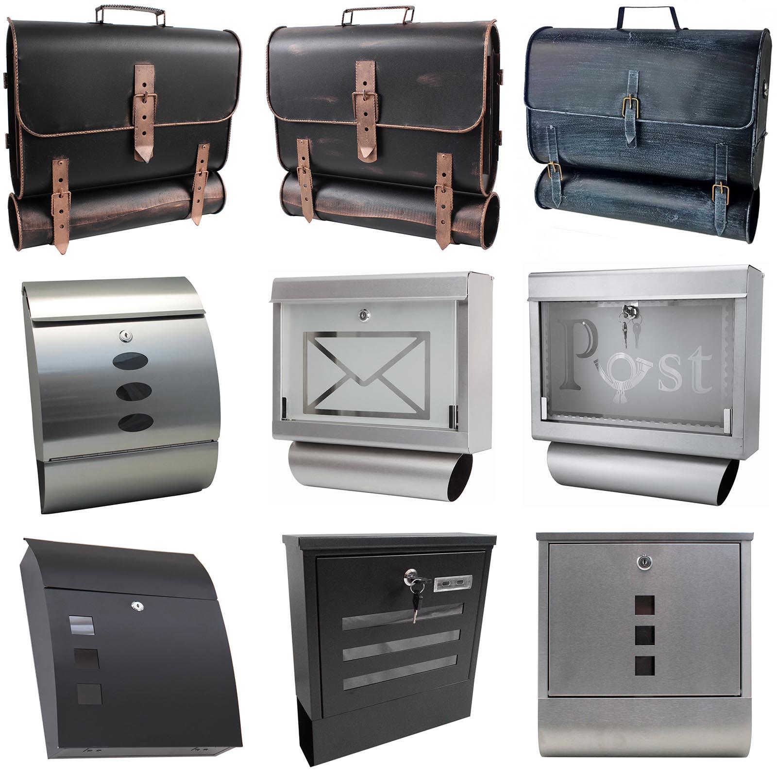briefkasten postkasten zeitungsfach nostalgie wandbriefkasten mit zeitungsrolle ebay. Black Bedroom Furniture Sets. Home Design Ideas