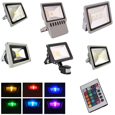 10 20w 30w 50w 100w 150w led fluter weiss flutlicht strahler bewegungsmelder rgb ebay. Black Bedroom Furniture Sets. Home Design Ideas
