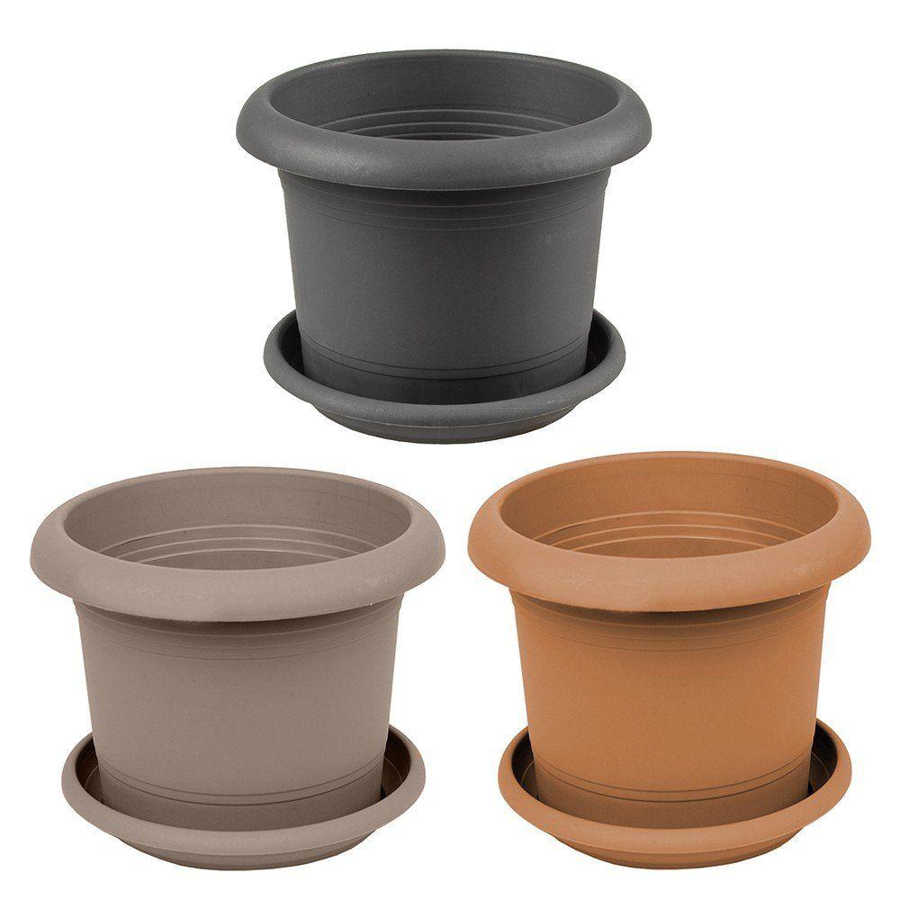 zylinder pflanzk bel blumentopf rund blumenk bel mit untersetzer n 2709 ebay. Black Bedroom Furniture Sets. Home Design Ideas