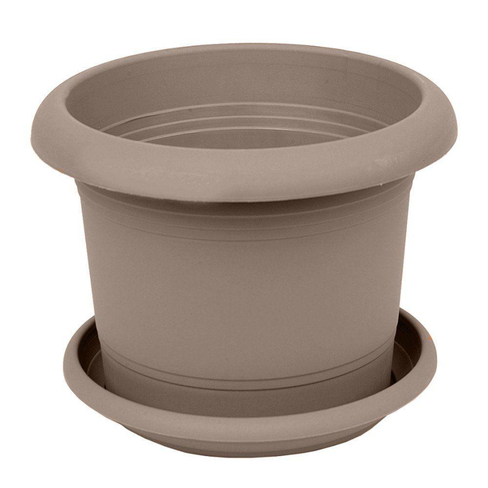 zylinder pflanzk bel blumentopf rund blumenk bel mit untersetzer neu 4082 ebay. Black Bedroom Furniture Sets. Home Design Ideas