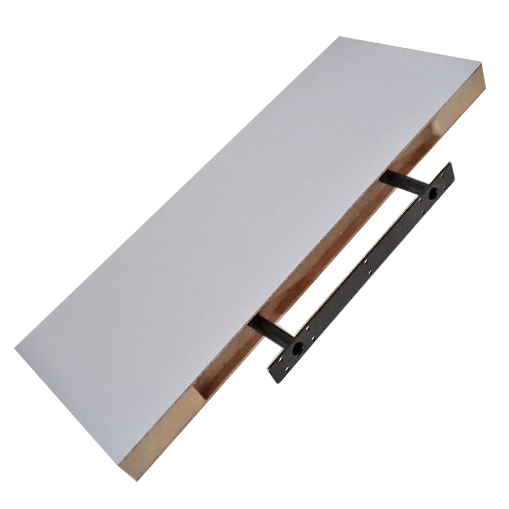 wandregal h ngeregal wandboard b cher board cd regal holz ablagen m befestigung ebay. Black Bedroom Furniture Sets. Home Design Ideas