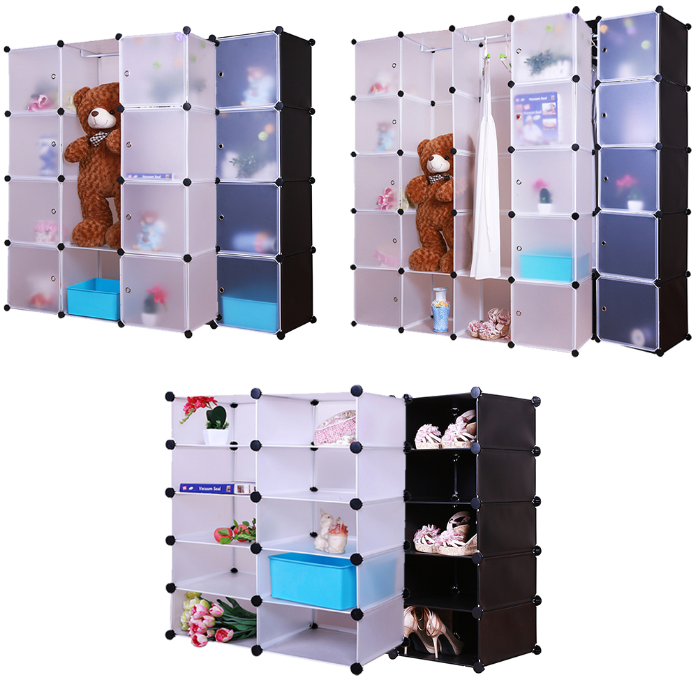 grafner kleiderschrank diy schrank regalsystem steckregal garderobe schuhregal eur 19 88. Black Bedroom Furniture Sets. Home Design Ideas