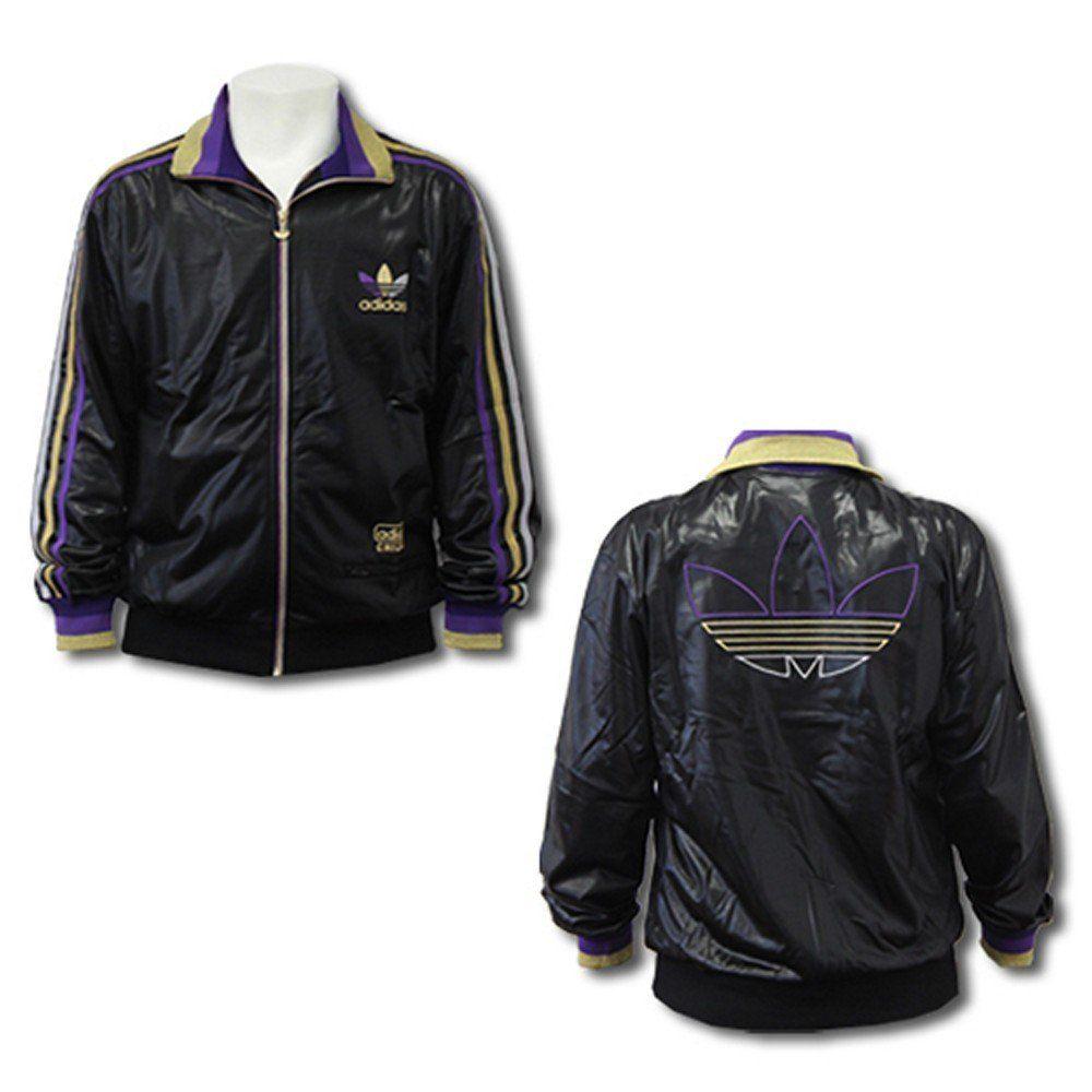 ADIDAS Chile 62 Rip Trainingsjacke Leder Look Jacke 36 44