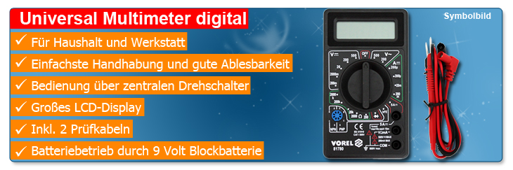 Universal Multimeter digital