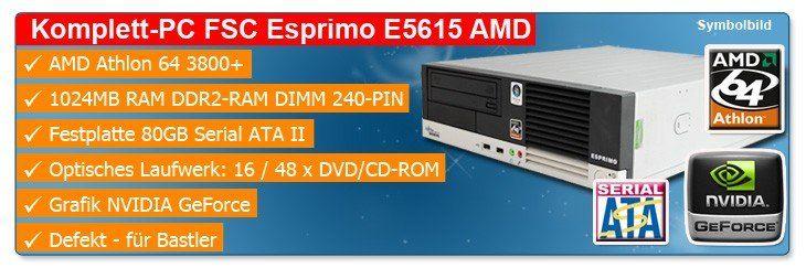 Fujitsu Esprimo E5615 AMD Athlon 64 3800+ - defekt