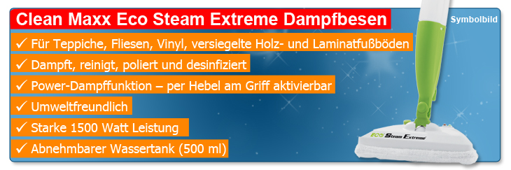 original clean maxx eco steam extreme dampfbesen zubeh r. Black Bedroom Furniture Sets. Home Design Ideas