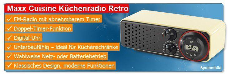 Küchenradio Retro Design ~ maxx cuisine retro küchenradio mit timer design radio doppel timer digital uhr ebay