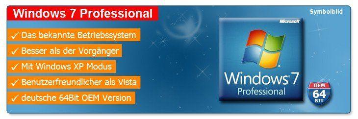 nd top 6826 Wow! Windows 7 Professional DVD, deutsch 64 Bit, OEM! Heute inkl. Lieferung 58,99€