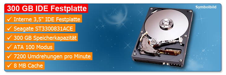 HDD IDE Seagate 300 GB ST3200826ACE