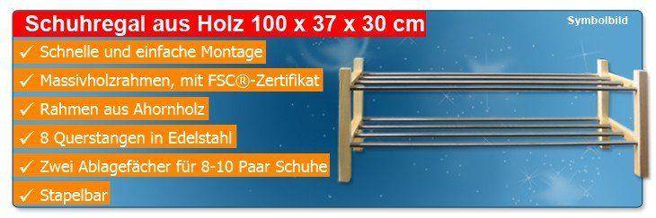schuhregal holz 100x37x30cm st nder ablage stecksystem schuhst nder schuhablage ebay. Black Bedroom Furniture Sets. Home Design Ideas
