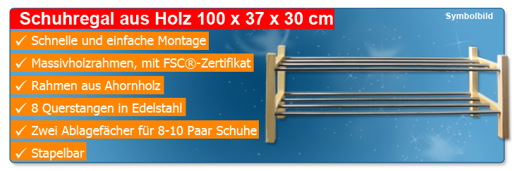 schuhregal holz 100x37x30cm st nder ablage stecksystem. Black Bedroom Furniture Sets. Home Design Ideas
