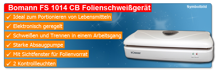 Bomann FS 1014 CB Folienschweissgerät