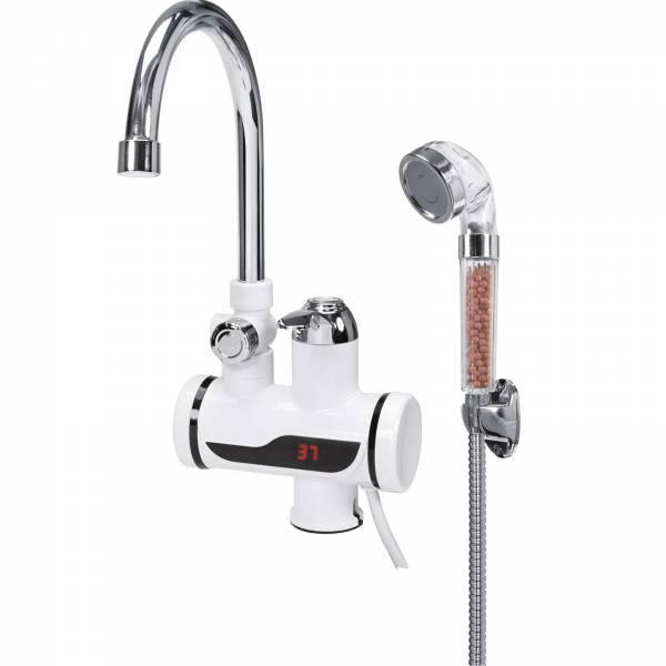 Fala Wasserhahn Durchlauferhitzer   Waschtischmontage   3KW   mit Duschbrause & Display   75923