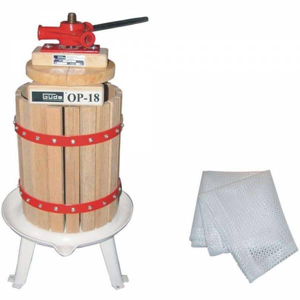 Güde Obstpresse OP 18 Liter Volumen mit 1 Presstuch Saftpresse Weinpresse