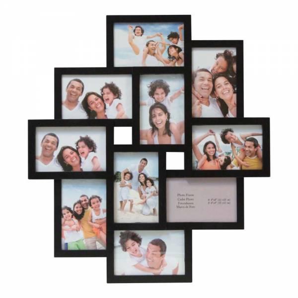 Bilderrahmen 3D für 10 Bilder 49x55cm in schwarz