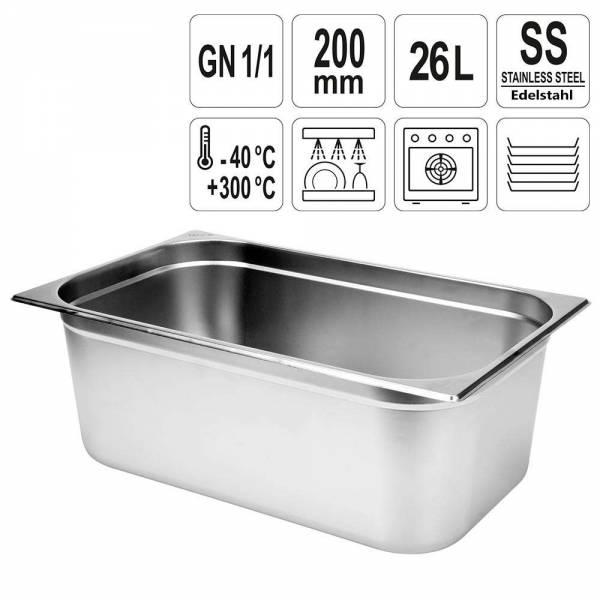 YATO Gastronorm Behälter Edelstahl 1/1 200mm