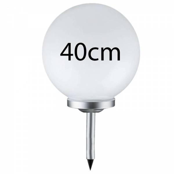 Grafner® LED Solar Kugel Ø40cm Solarleuchte Kugelleuchte mit Erdspieß