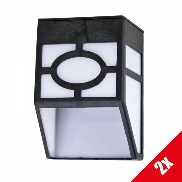 2er Set Grafner LED Solar Wandlampe SL10701 Wandleuchte Solarleuchte