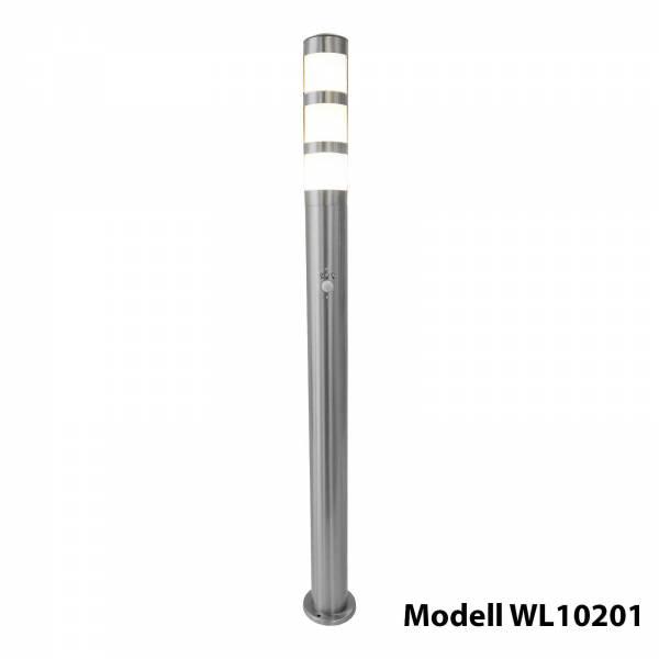 Grafner Edelstahl Wegleuchte mit Bewegungsmelder WL10201 Gartenlampe 110 cm