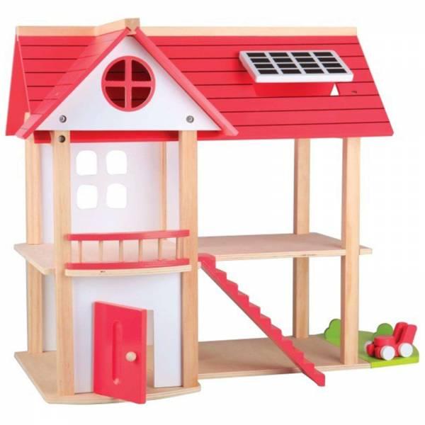 Beeboo Puppenhaus Eco Villa Spielzeughaus aus Holz unmöbliert