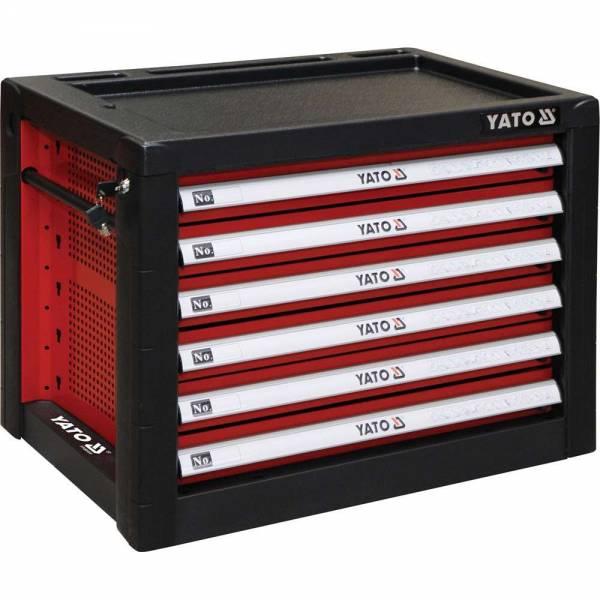 YATO Profi Werkzeugkasten mit 6 Schubladen YT-09155 Werkzeugschrank