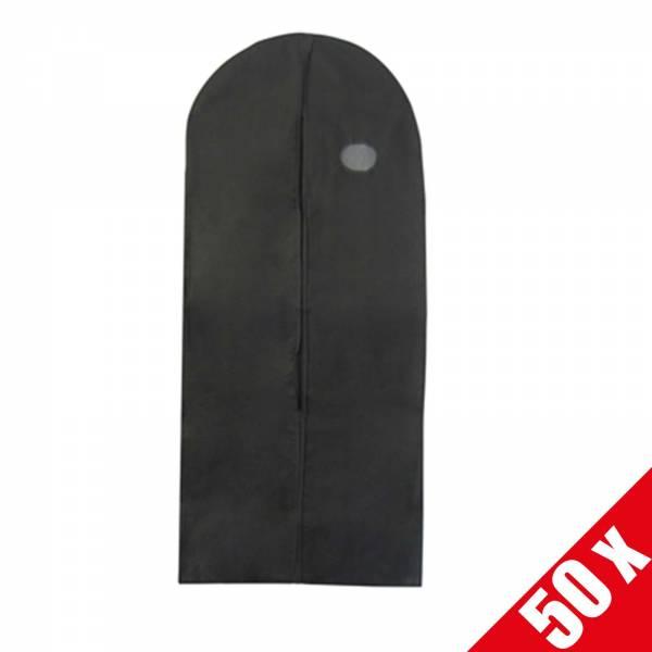 """50 x Kleidersack """"Non wooven"""" schwarz, 60x150cm"""