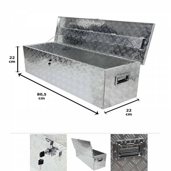 Grafner® Werkzeugkasten Alu Transportbox 80,5 x 22 x 22 cm
